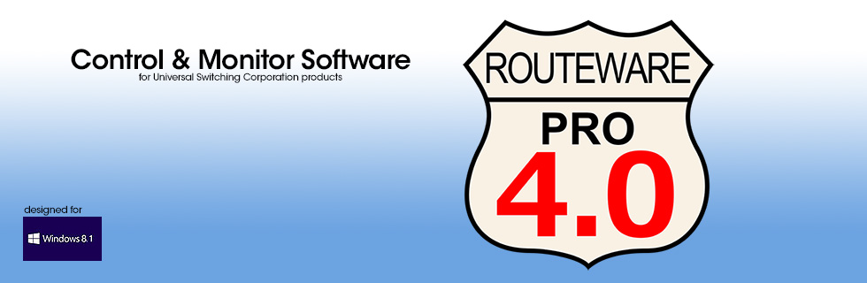 RouteWarePRO control and monitor software for windows